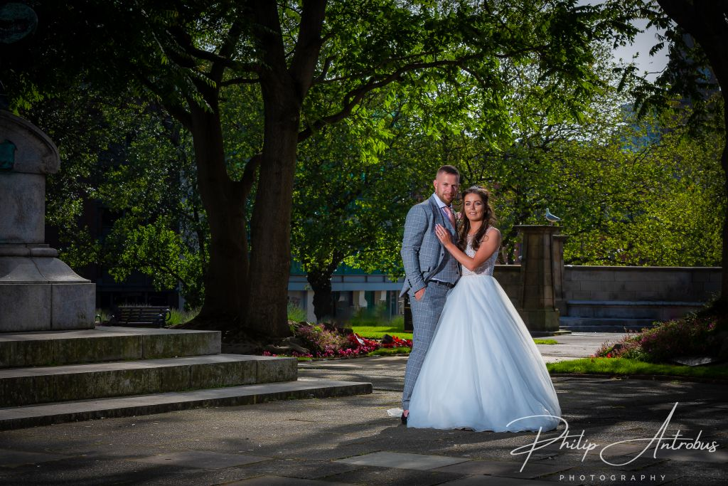 Bride and Groom at St George's Hall Liverpool
